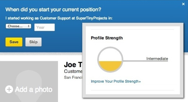 linkedinprofilestrength