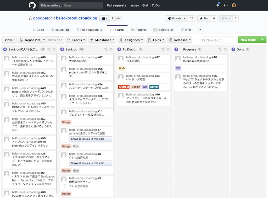 ZenHubを使用したタスク管理