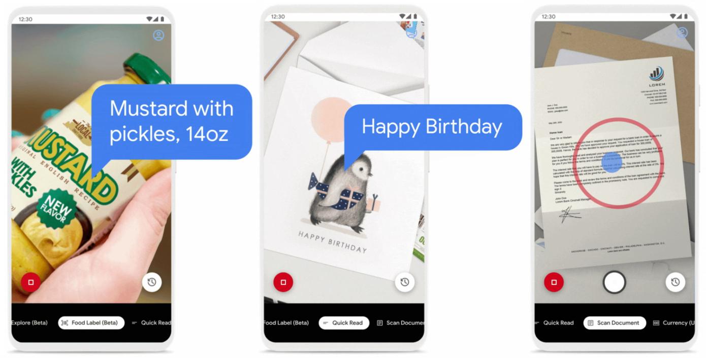 Googleの視覚障害者向けAIアプリ「Lookout」で食品ラベルや長文のスキャンが可能になる