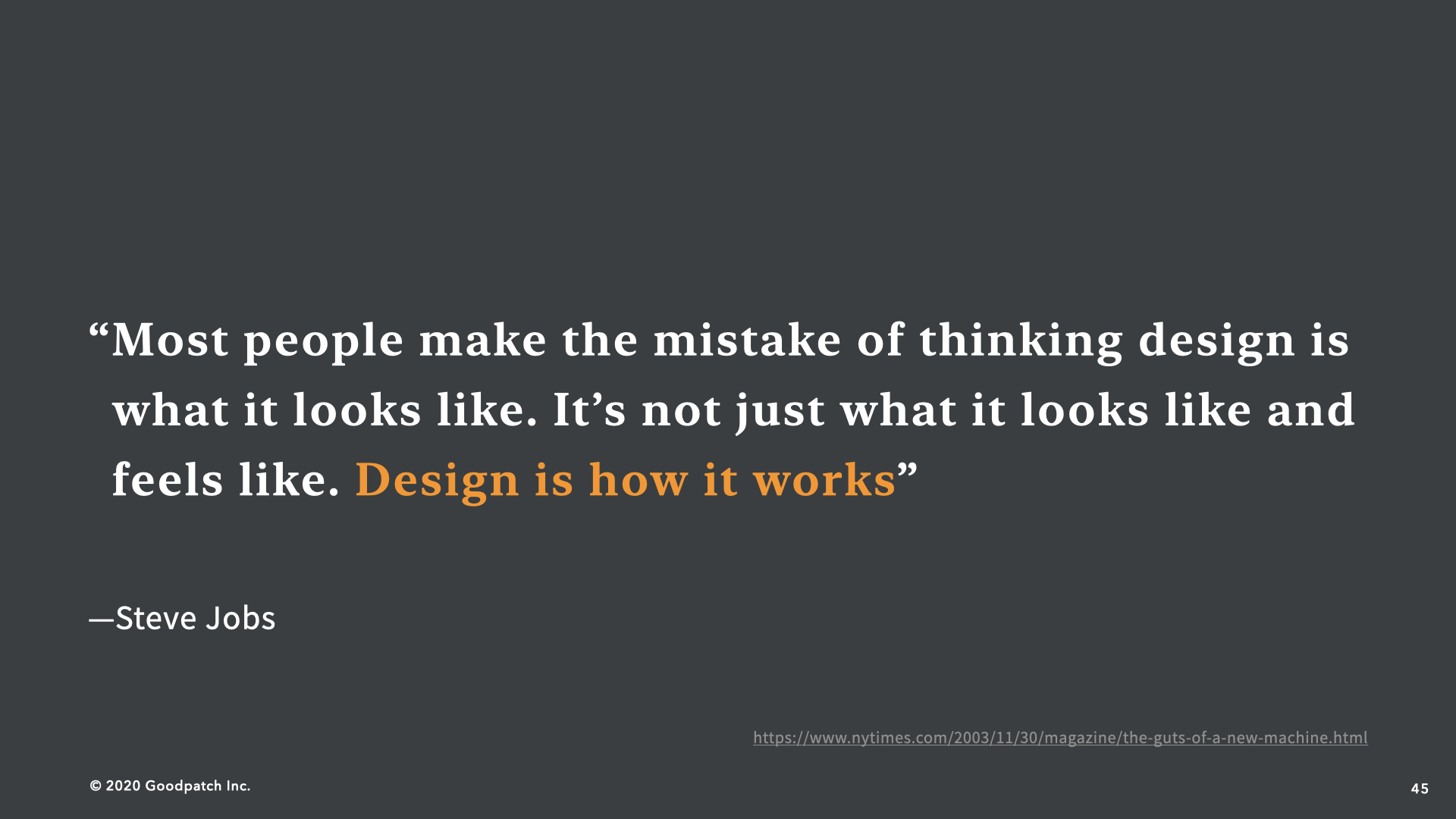 Desing is How It Works