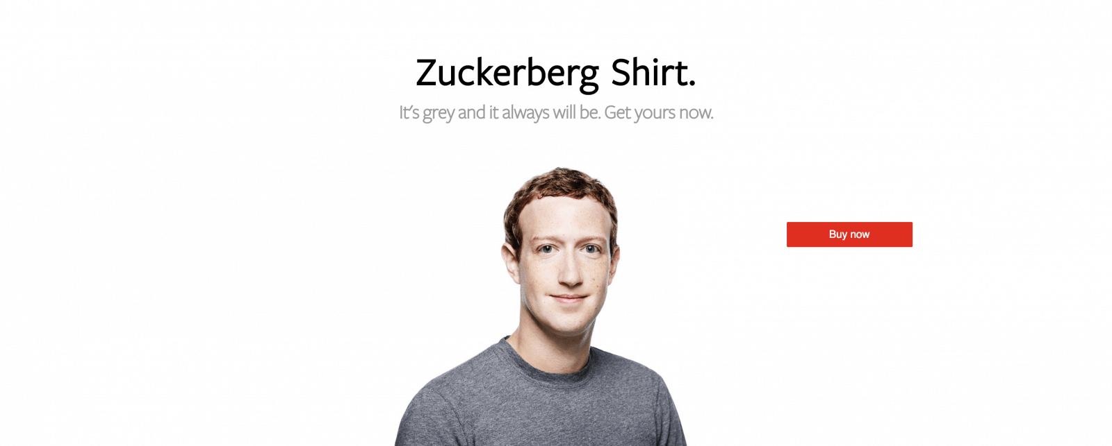 Zuckerberg Shirt.