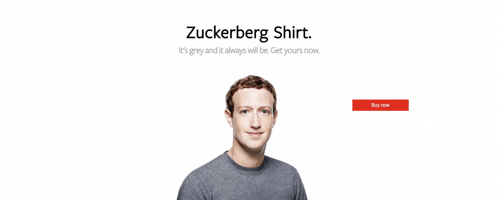 Zuckerberg Shirt.